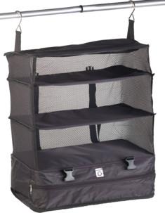 organiseur de vetements pour sacs et valises avec crochets de suspension pour mini dressing