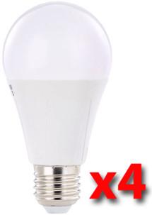Pack de 4 ampoules LED 8 W E27 classe A+ - Blanc