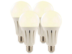 Pack de 4 ampoules LED E27 High Power 24 W / 2250 lm  - Blanc chaud