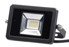 projecteur mural orientable eclairage continu ou automatique détecteur de mouvement avec telecommande luminea 10 30 50w