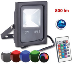 Projecteur résistant aux intempéries à LED SMD RVB  10 W / 800 lm, IP65