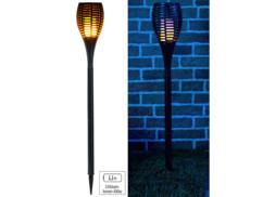 Torche de jardin 64 LED avec effet flamme et batterie 2000 mAh