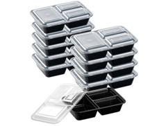 10boîtes de conservation 1,2L avec 3compartiments et couvercles