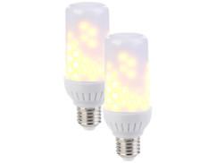 2 ampoules LED effet flamme E27 / 2,59 W / 160 lm