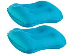 2 coussins de camping gonflables avec pompe manuelle intégrée