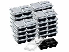 20boîtes de conservation 1,2L avec 3compartiments et couvercles
