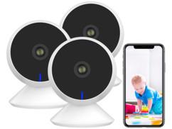 3 caméras IP connectées Full HD à vision nocturne IPC-300.fhd