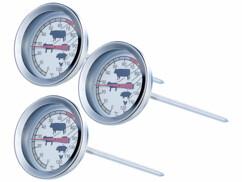 3 thermomètres de cuisson pour poêle et grill