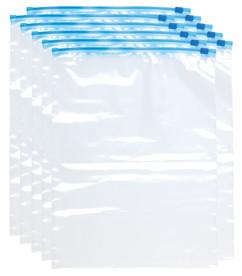 pack de 30 sacs de congelation utilisables pour vetements avec zip de fermeture 3 tailles
