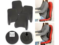 4 coussins ergonomiques dorsaux en mousse à mémoire de forme