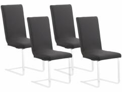 4housses de chaise extensibles et écologiques - Noir