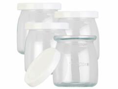 4pots en verre avec couvercles pour yaourtière JM-300
