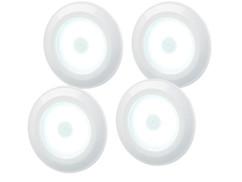 4 spots à LED COB 120 lm pour meubles de cuisine avec télécommande et minuterie