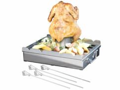 Accessoire 5 en 1 pour barbecue avec 4 brochettes
