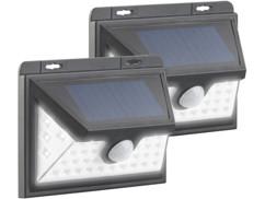 """Set de 2 appliques solaires à LED avec détecteur PIR 350 lm """"WL-735.solar"""""""