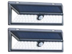 """Set de 2 appliques solaires à LED avec détecteur PIR 800 lm """"WL-1380.solar"""""""