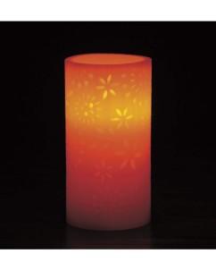 Bougie à LED en cire véritable avec motifs floraux