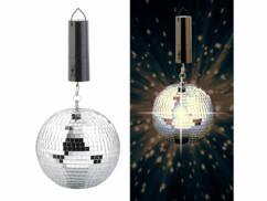 Boule disco rotative Ø 20cm à suspendre