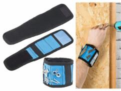 Bracelet magnétique pour clous et vis avec 6 aimants, élastique et mini-poche