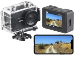 Caméra sport 4K connectée avec wifi, capteur Sony et boîtier étanche et Webcam