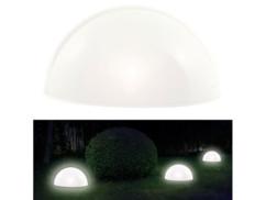 Demi-sphère solaire à LED avec capteur d'obscurité