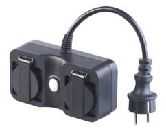 Double prise d'extérieur connectée compatible Amazon Alexa etGoogle Assistant SF-620.avs