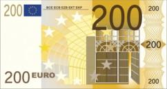 Drap de bain microfibre design billet de 200 € - 180 x 90 cm