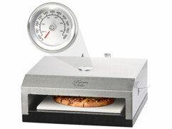 Four à pizza pour barbecue avec pierre de cuisson et thermomètre intégré