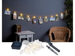 Guirlande porte-photos avec 40 pinces à LED (10 m) - Solaire