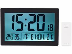 Horloge radio-pilotée XL noire par Infactory.