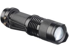 Lampe de poche LED-Cree 3 watts avec 3 modes d'éclairage, 150 lm, focalisable