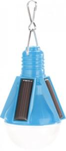 Lampe festive solaire design ampoule - Bleu