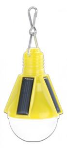 Lampe festive solaire design ampoule - Jaune