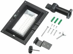 Lampe solaire à LED 6 W pour mur et gouttière avec capteur PIR - Noir