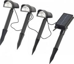 Lot de 3 spots de jardin solaires