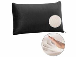 Oreiller en mousse à mémoire de forme avec housse thermorégulatrice