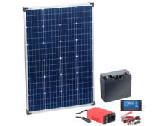 Panneau solaire 110W avec batterie, régulateur et convertisseur, par Revolt.
