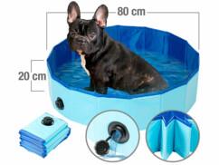 Piscine pliable pour chiens avec fond antidérapant - Ø 80cm