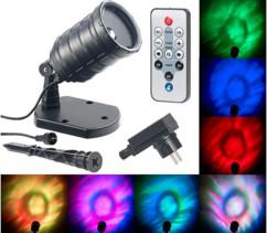 Projecteur LED RVB télécommandé à effets aquatiques
