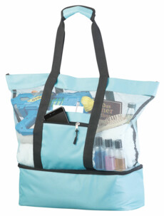 Sac de plage en filet avec compartiment isotherme
