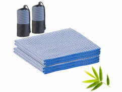 2 serviettes en fibres de bambou 130x 80cm