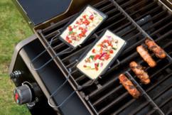 lot de 2 poelons a raclette et à legumes pour barbecue rosenstein