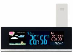 Station météo USB avec capteur extérieur sans fil et écran LCD couleur