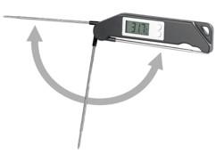 Thermomètre de cuisson jusqu'à 200°C pliable