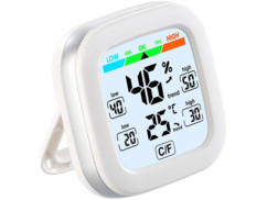 Thermomètre-hygromètre avec prévision météo.