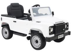 Voiture pour enfant Land Rover blanc.