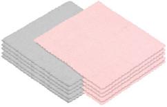 30serviettes démaquillantes en microfibres - Roses et grises