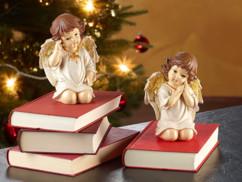 2 anges de Noël décoratifs - 15 cm