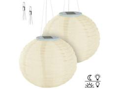 2 lampions solaires Ø 30 cm à LED blanc chaud - x1