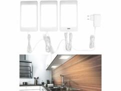 3 plaques d'éclairage à LED avec capteur infrarouge